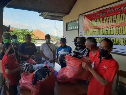 Pemerintah Desa Tinggarsari Kembali Melaksanakan penyemprotan desinfektan dan Membagikan Masker grat