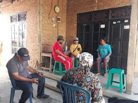 Turun Langsung Relawan Desa Lawan Covid-19 Desa Tinggarsari melakukan Validasi dan verifikasi Calon